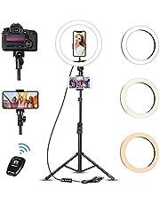 """Luce ad Anello Led con Treppiede, Photry 12"""" Ring Light Dimmerabile Selfie Light Kit con 3 Modalità Colore e 10 Luminosità, Alimentazione USB per Makeup/Fotografia/Live Streaming"""