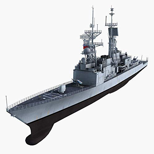Heinside Gift Military Battleship Model Kits, Maßstab 1:350 China Ning Bo Destroyer Plastic Puzzle Adult Toys and Collectibles Astonishing