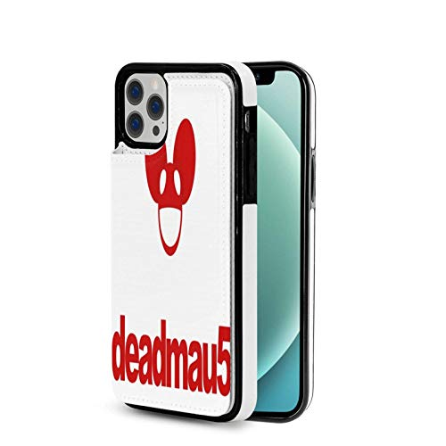 Sweet grape Deadmau5 Logo iPhone 12 Series Wallet Case, Advanced PU Leather Flip Cover Case (with Card Slot and Stand), Suitable for IP12-6.1