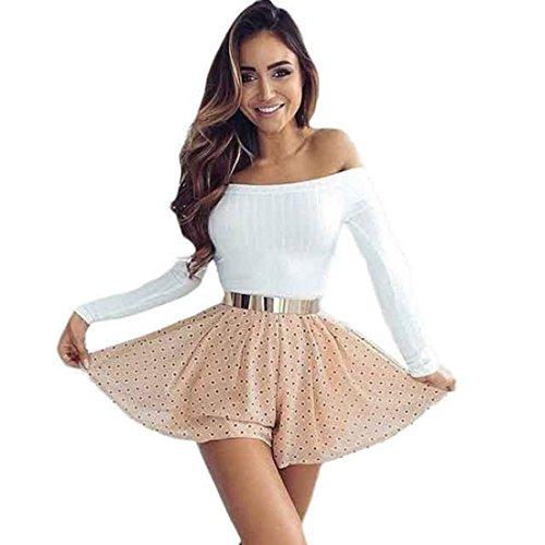 Kolylong® Sweatshirt Damen Frau Schlank Tops Schulterfrei Sweatshirt (S, Weiß)