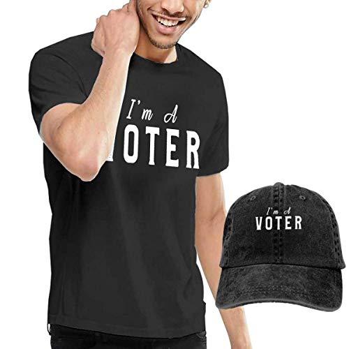 Hdadwy Juego Combinado de Camiseta y Gorra de béisbol Lavada de I Am A Voter Election 2020