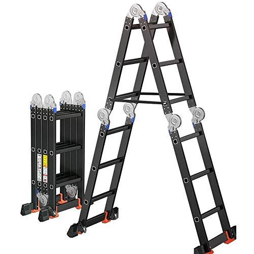 Trittleiter Multi-Purpose Aluminium Folding Stufenleiter Gerüst Bequeme Lagerung, Lager Gewicht 150 kg, geeignet for Heimarbeits QIQIDEDIAN (Size : 3.6m)