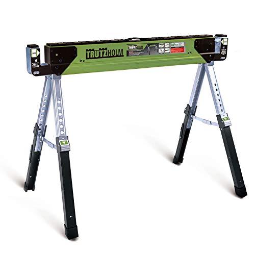 TrutzHolm® Stahl Sägebock Arbeitsbock höhenverstellbar bis 590 kg klappbar Werkbock Untergestell