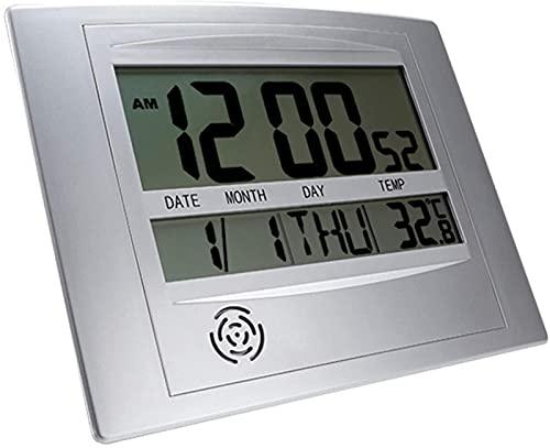 Digital väckarklocka Digital med stor speglad LED-display, LED elektriska väckarklockor, Batteridriven, Ljusstyrka justerbar, Snooze-funktion