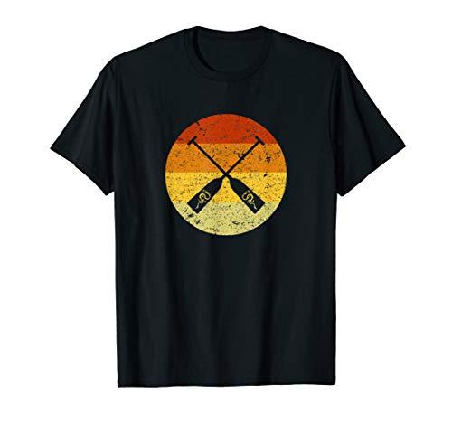 Drachenboot Retro Vintage Kreis für Paddler T-Shirt