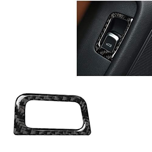 Car decorative fibre board fram Car Carbon Fiber Trunk Switch Decorative Sticker, Suitable for A6 S6 C7 A7 S7 4G8 2012-2018, Left Drive