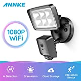 ANNKE Floodlight Camera HD Outdoor Security Light Cam, Wide View Angle, AI+PIR Detection, Customized Motion Area, Two-Way Talk and Siren Alarm