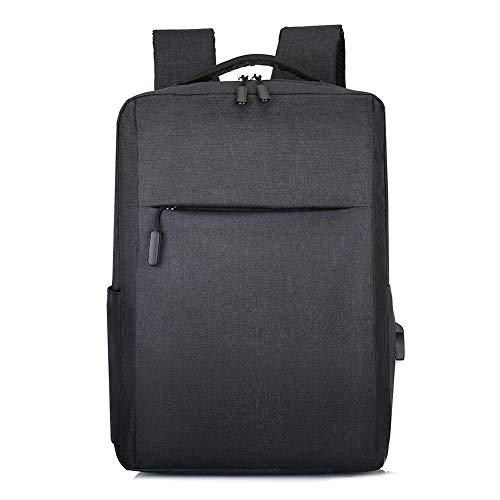 Laptop Backpack,Slim Computer School Bag, Business Case with USB Charging Port, Fits 15.6 Inch Laptop Bookbag Travel Backpack (Black)