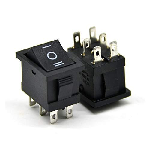 JSJJAYH Interruptor basculante 10pcs KCD11 Interruptor de botón pulsador 15x21mm 2/3 Pin SPST Mini interruptores 10A / 125V 6A / 250V Encendido on-in On-On On-On On On Boat Rocker Switch Accesorios