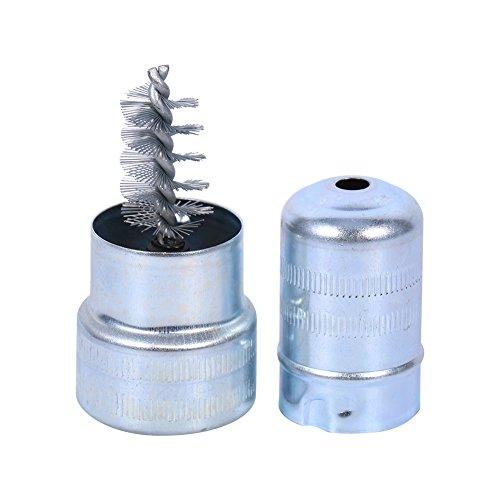 Limpiador de batería, limpiador de bornes de poste de batería de coche Cepillo de suciedad y corrosión Herramienta de limpieza manual