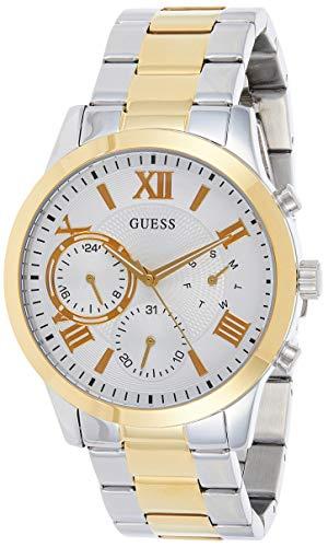 GUESS Reloj Analógico para Hombre de Cuarzo con Correa en Acero Inoxidable W1070L8