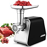 Electric Meat Grinder, 2000W Max Stainless Steel Meat Slicer &...