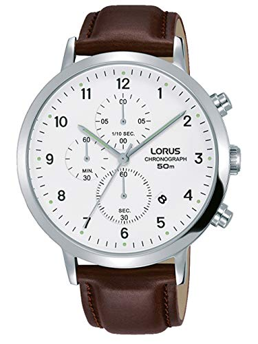 Lorus Damen-Armbanduhr XS Classic Analog Quarz Leder R2379JX9