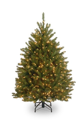 National Tree 4-1/2 Foot Dunhill Fir Tree with 450 Clear Lights (DUH3-45LO)