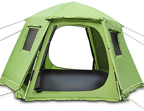 XIUYU Camping Tent, Automatic Tent - Outdoor Camping Hexagon Tents Instant Cabana Waterproof Shade Canopy Tarp for Wilderness Survival Mountaineering