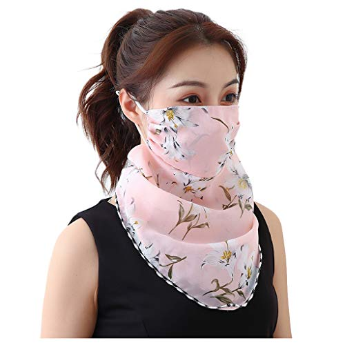 Fantastic Prices! Arkutor Women Sun Protection Ear Hangers Design Neck Scarf, Outdoor Sport Fashion ...