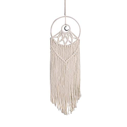 N\C Artilady Macrame Moon Dream Catcher Boho Home Decor Room Decoration