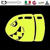 ERREINGE STICKER PRESPAZIATO GIALLO FLUO 12cm - Proiettile Squalo Bulletproof Shark SX - Adesivo Decal Decalcolmania Vinile Murale Laptop Auto Moto Casco Camper