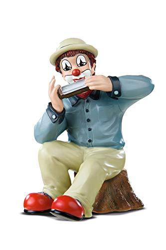 Gildeclown Tocador de armónica - figura decorativa y objeto de colección hecho a mano H 12 cm