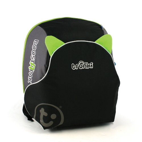 Trunki BoostApak - Travel Backpack & Child Car Booster Seat for Group 2-3 (Green)