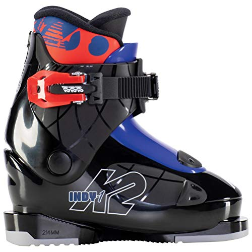 K2 Skis Jungen Indy - 1 Skischuhe, Black - Blue - red, Mondo: 18.5 (EU: 30.5 / UK: 11 / US: 12)