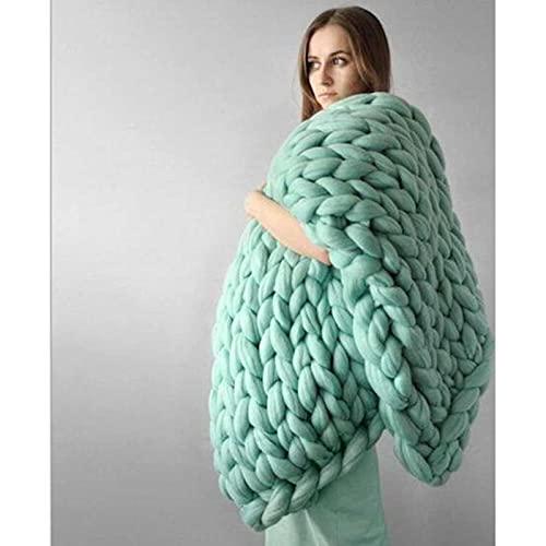 XITING Moda grossa lana merino coperta spessa grande filato roving maglia coperta inverno caldo tiro coperte divano letto coperta