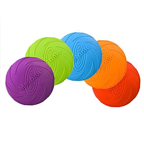 Yuforest-5 Piezas,Frisbees de Perro,Perros interactivos Frisbee,Disco Volador de Juguete para Perros,Adecuado para...