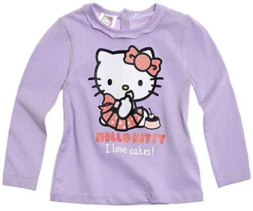 T-shirt bébé fille manches longues Hello kitty Violet de 3 à 24mois (18mois)