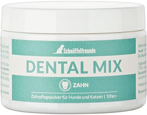 Schnüffelfreunde Zahnpflege Pulver Dental Mix für Hunde und Katzen I Zahnsteinentferner Ergänzung für den Hund und die Katze 100g