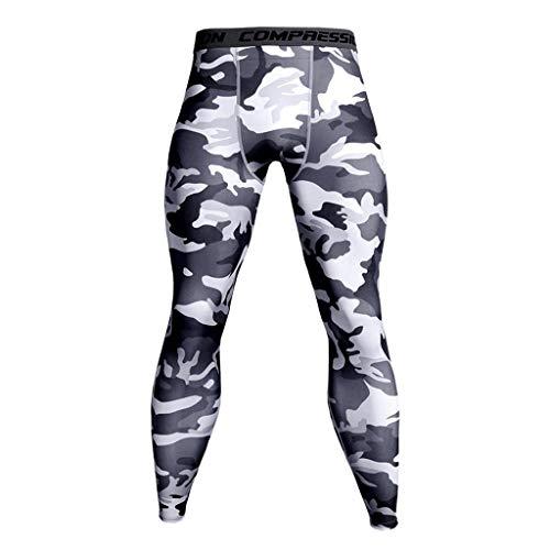 Pantalones Deportivos Secado Rápido para Hombres Mallas Transpirables para Sudor Fitness Moda Deportivo Pantalones de Yoga Elástico Casual Largos Pantalones Gym riou