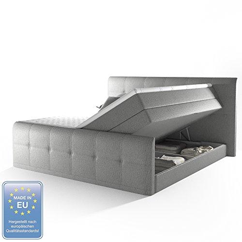 OSKAR VICCO Boxspringbett 180x200cm H2 mit 2 Bettkästen 7-Zonen Tonnentaschenfederkern inkl. Komfortschaum-Topper Doppelbett Polsterbett Hotelbett