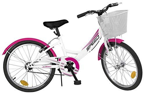 Toimsa Kinderfahrrad Mädchenfahrrad Bike 20 Zoll Pink Kinder City Fahrrad Korb