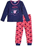 Peppa Wutz Winter-Pyjama-Set für Kinder aus Fleece, Korallenfarben Gr. 8 Jahre, violett