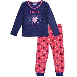 Peppa Pig – Pijama de invierno para niños (forro polar), color coral