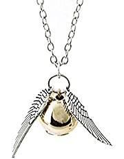 Harry Potter Golden Snitch ST Wings Pendant Necklace