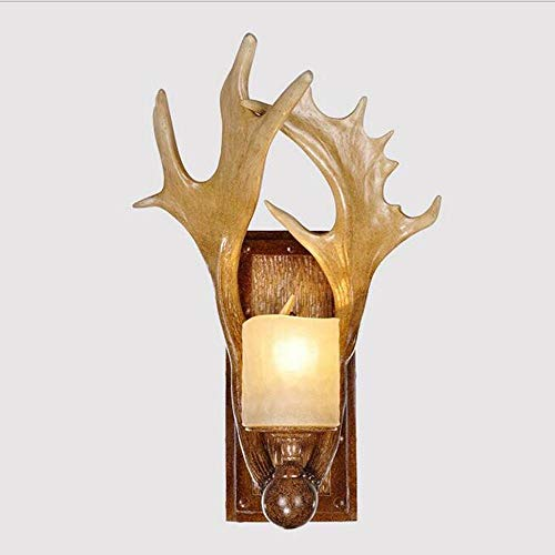 LIXBD Lámpara de Pared Lámpara de luz, Lámpara de luz Creativa Mesita de Noche Dormitorio Lámpara de Escritorio Deer Antlers Trophy Woodland Highland Accesorios Regalos Lámparas de Pared
