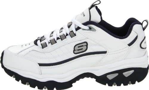 Skechers Sport Men's Energy Afterburn Lace-Up Sneaker,White/Navy,8 XW US 3