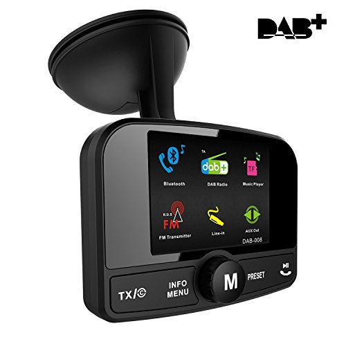 [2.4' Colorful Display]Car DAB/DAB+ Radio Adaptor, Portable DAB Digital...