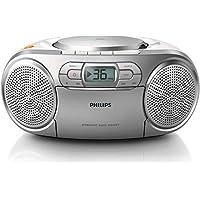 Philips AZ127/12 - Unidad de CD (stereo, Dynamic Bass Boost, 2 W, FM, Portable CD player), Plateado