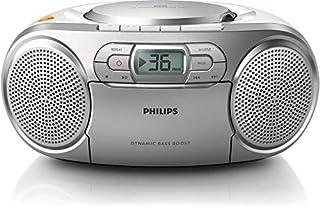Philips AZ127/12 Lecteur CD Portable,CD Player Portable (Amplification Dynamique des Basses, Radio FM,Platine Cassette,Entrée Audio) Argent (B00AWJICFO) | Amazon price tracker / tracking, Amazon price history charts, Amazon price watches, Amazon price drop alerts