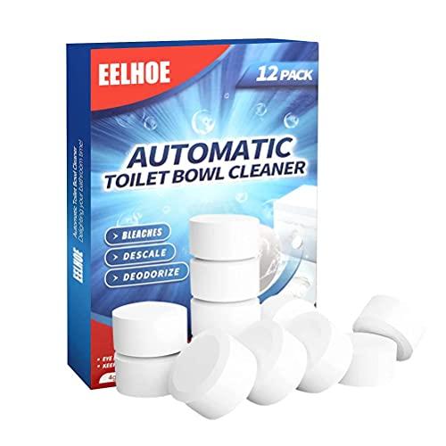 Limpieza de inodoros efervescentes comprimidos – Descontaminación y desodorización – Duradera y eficaz – Limpiador de inodoro suave (12 piezas)