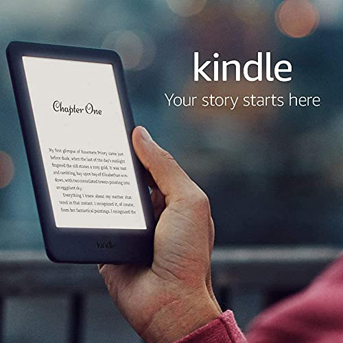 Kindle Essentials Bundle includes Kindle E-Reader (Black) with Special Offers, Amazon Fabric Cover (Cobalt Blue) and Amazon 5W Power Adaptor