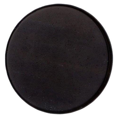 Morella Damen Coin 33 mm Edelstein schwarzer Opsidian Chakren Scheibe Halsketten-Anhänger und zur Stärkung