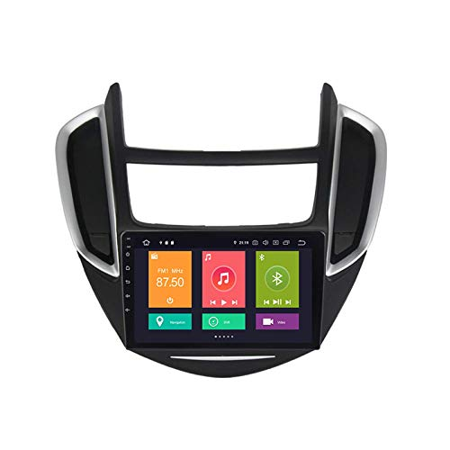 LNHJZ Android 10.0 Auto-Stereo-Head-Unit Kompatibel mit Chevrolet trax 2014-2016 GPS-Navigation 9-Zoll-Touchscreen MP5-Multimedia-Player Radio-Videoempfänger mit 4G DSP Carplay