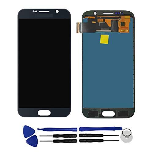 OYOG - Reemplazo para Samsung Galaxy S6 G920F G920A Pantalla táctil LCD montada (sin chasis), color negro