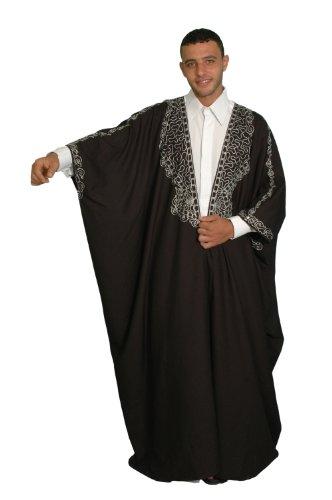 Caftn de capa Talla nica: S hasta 5X l, color blanco y negro o Golden bordados negro/blanco