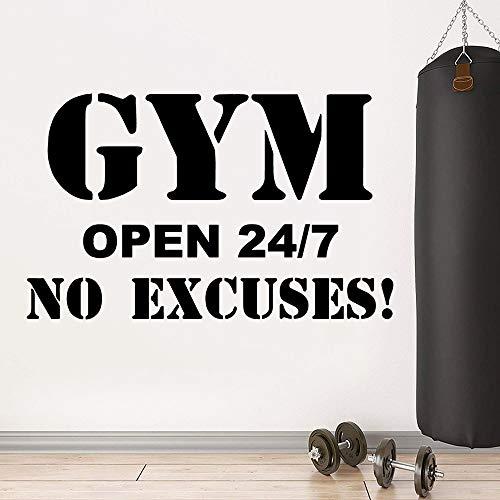 AQjept Gym calcomanía Frase Etiqueta de la Pared para Gimnasio Sala de Fitness motivación Vinilo calcomanía Pegatina mural37x60cm