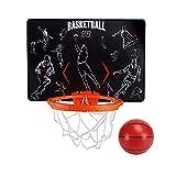 MHCYKJ Mini Canasta Baloncesto Infantil Juego De Aro Puerta Montado En La Pared para Niños Sistema Interior Basquetbol con Bola Y Bomba