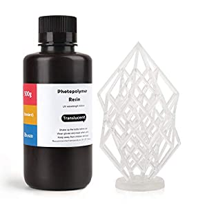 ELEGOO LCD UV 405nm ABS-Like 3D Printer Resin Rapid 3D Resin for LCD 3D Printer 500g Photopolymer Resin Translucent