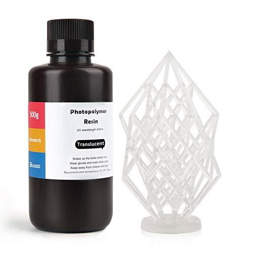 ELEGOO LCD UV 405nm ABS-Like Rapid Resin für LCD 3D Drucker Photopolymer Kunstharz Flüssige 3D-Druckmaterialien Transluzent 500g